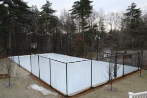 turn sport court into ice rink