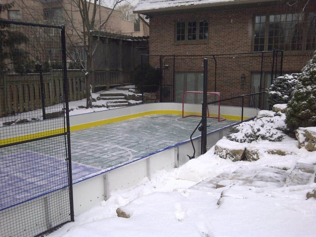 How to Turn Your Backyard Court Into an Ice Rink