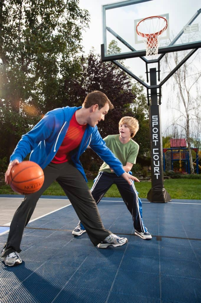 family basketball games sport court knockout horse fun family