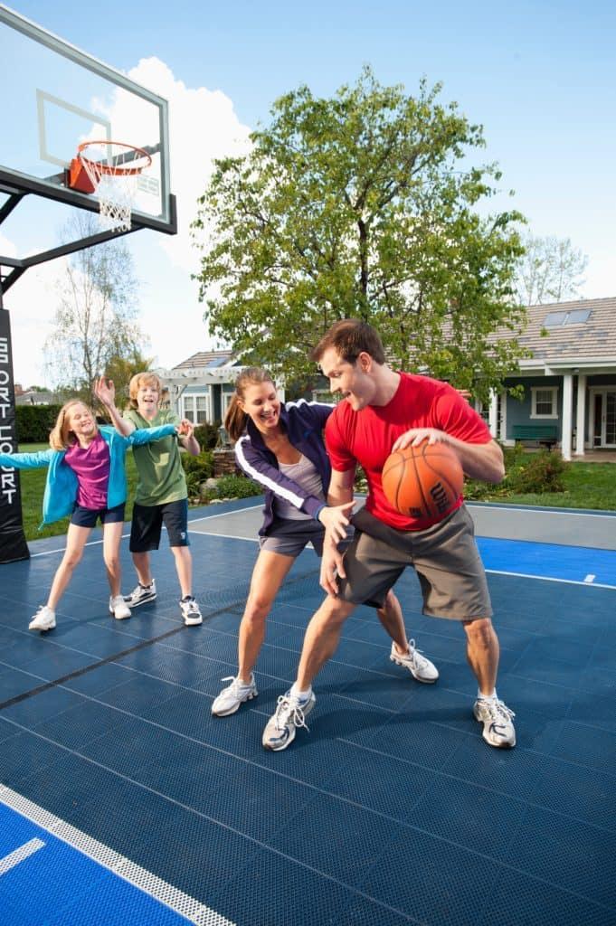 family sports physical fitness fun sport court backyard