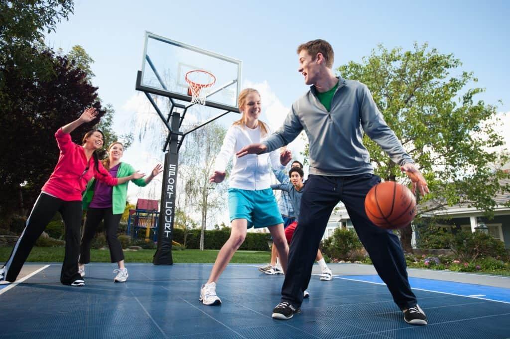 sport court safety safe concrete asphalt family backyard game