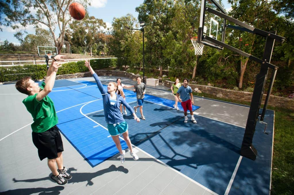 health benefits backyard sport court home basketball court lose weight fit fitness