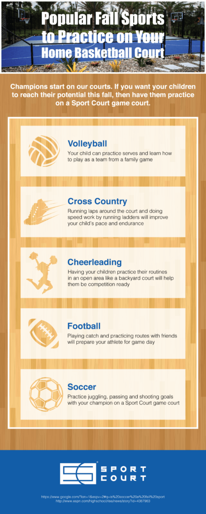 fall sports to practice on your home sport court