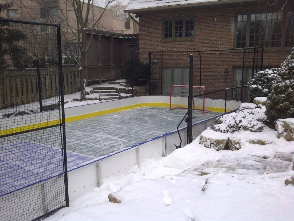 create a backyard ice rink