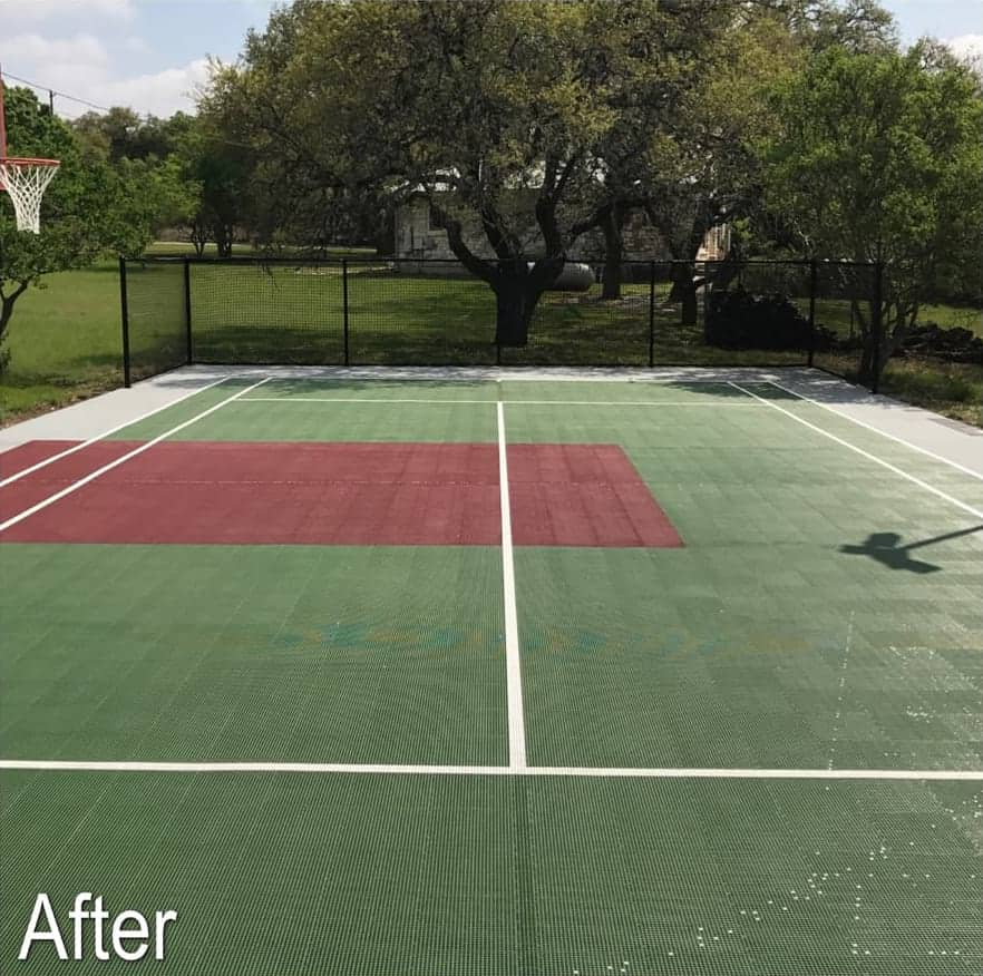 Sport Court before maintenance cleaning