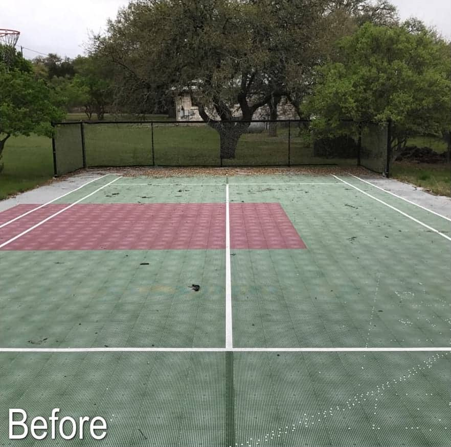 Sport Court after maintenance cleaning